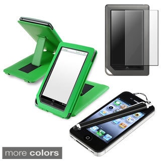 Leather Case/Screen Protector/Stylus Bundle for Barnes & Noble Nook Color