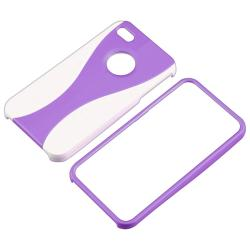Purple Case/ Screen Protector/ Audio cable for Apple iPhone 4S