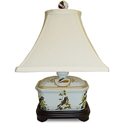 Secret Garden Birds Cover Box Porcelain Lamp