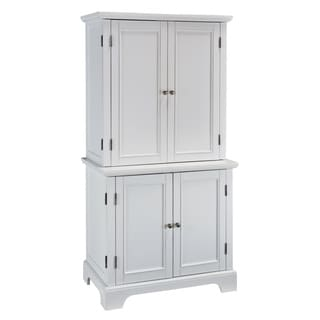 Naples White Compact Computer Desk/ Hutch