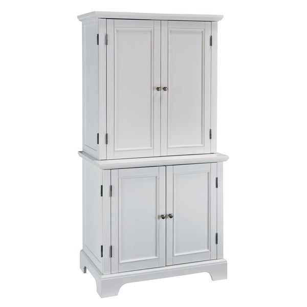 Home Styles Naples White Compact Computer Desk/ Hutch