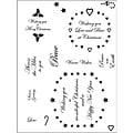 Spellbinders 'Swirly Labels 22 Wishes' Clear Stamps (1 Sheet)