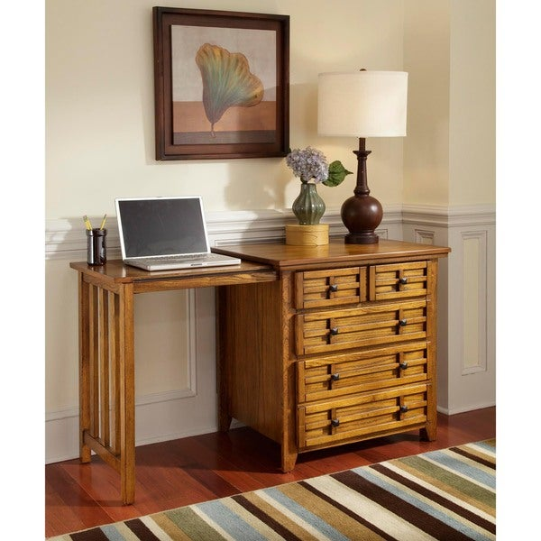 Arts and Crafts Cottage Oak Expand-a-desk