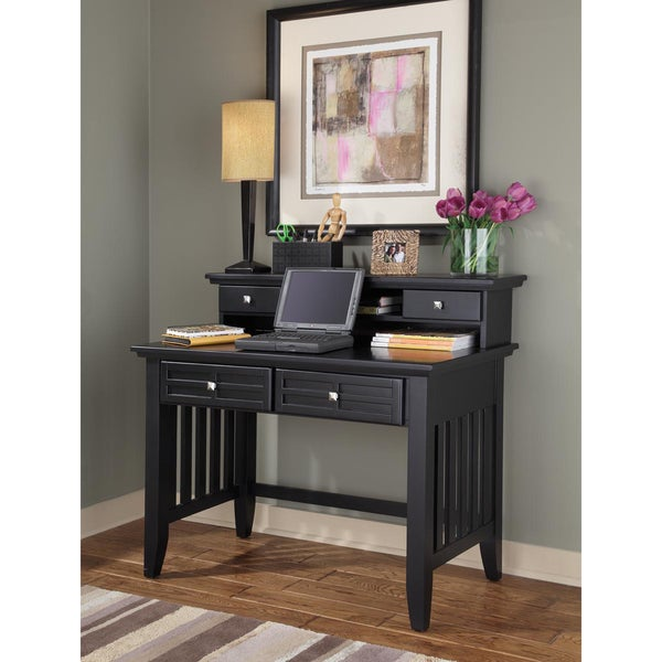 Home Styles Arts and Crafts Black Student Desk/ Hutch