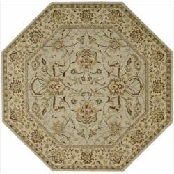 Nourison Parthia Green Floral Wool Rug (5'6 x 5'6)