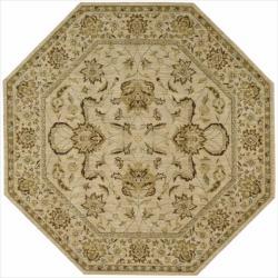 Nourison Parthia Sand Wool Rug (5'6 x 5'6)