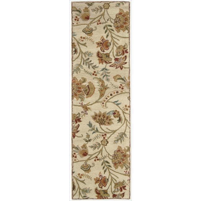 Nourison Hand-tufted Firenze Ivory Rug (2'3 x 8')