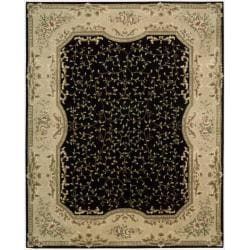 Nourison Hand-tufted Chateau Provence Black Rug (7'9 x 9'9)