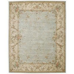Nourison Hand-tufted Chateau Provence Green Rug (7'9 x 9'9)