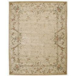 Nourison Hand-tufted Chateau Provence Beige Rug (7'9 x 9'9)