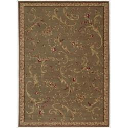 Nourison Ashton House Green Wool Rug (7'9 x 10'10)