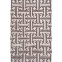 Hand-woven Alfex Wool Rug (8' x 11')