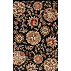 Hand-tufted Black Bichon Wool Rug (9' x 12')