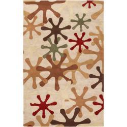 Hand-tufted Beige Bedlington Wool Rug (7'6 x 9'6)