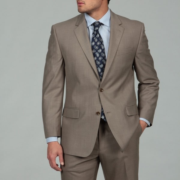MICHAEL Michael Kors Men's Light Brown Sharkskin Finish Suit FINAL SALE