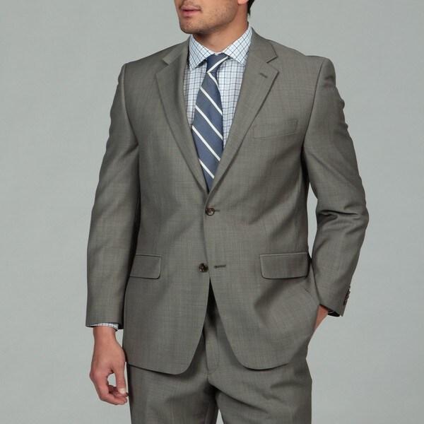 MICHAEL Michael Kors Men's Taupe 2-button Wool Suit
