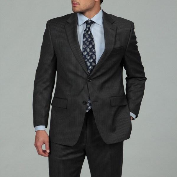 MICHAEL Michael Kors Men's Grey Stripe 2-button Wool Suit
