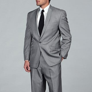 Sean John Men's Black and White Tic Suit
