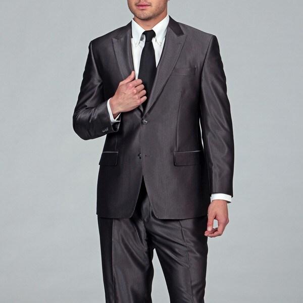 Sean John Men's Grey Stripe 2-button Suit