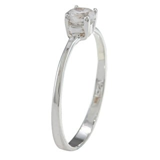Sterling Silver Cubic Zirconia Solitaire Baby Ring