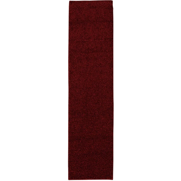 Mohawk Home Solid Shag Brick Red Rug (2' x 8')