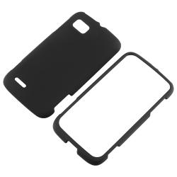 Black Snap-on Rubber Coated Case for Motorola Atrix MB856
