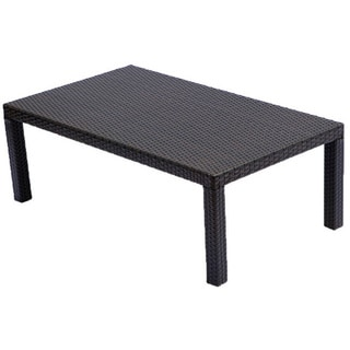 RST Brands Espresso Rattan Patio Coffee Table
