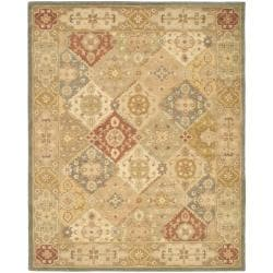 Handmade Antiquities Bakhtieri Multi/ Beige Wool Rug (12' x 15')