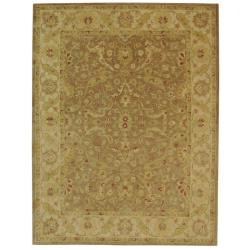 Handmade Antiquities Treasure Brown/ Gold Wool Rug (11' x 17')