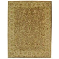 Safavieh Handmade Antiquities Treasure Brown/ Gold Wool Rug (11' x 17')