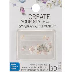 Jolee's Jewels 4mm Star Mix Bicone Beads (Pack of 30)