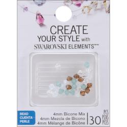 Jolee's Jewels 4mm Sea Glass Mix Bicone Beads (Pack of 30)