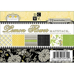 Lemon Flower Mat Stack (Pack of 72)