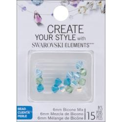 Jolee's Jewels 6mm Sea Breeze Mix Bicone Beads (Pack of 15)