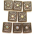 Jolee's Jewels Antique Gold/ Crystal Sliders (Pack of 8)