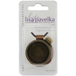 Lisa Pavelka Antique Gold Round Bezel