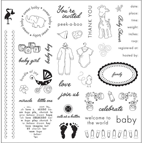 Fiskars 'Baby' Clear Stamps