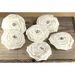Allure 'Aurora' Fabric Flowers with Gem