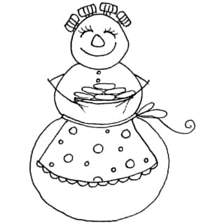 Penny Black 'Christmas Cookies' Rubber Stamp