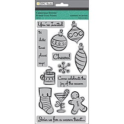 ANW 'Christmas Invites' Crestwood Cling Rubber Stamp