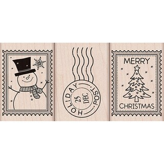 Hero Arts 'Christmas Post' Mounted Rubber Stamps