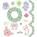 JustRite Stampers Christmas Trimmings Cling Stamp Set (14 Pieces)