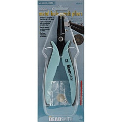 Beadsmith Metal Hole Punch Pliers with Guage Guard and Replacement Pin