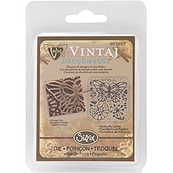 Vintaj Sizzix DecoEmboss 'Butterfly Swirls' Embossing Folder