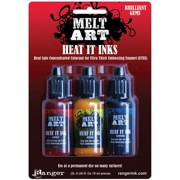 Melt Art Heat It 'Brilliant Gems' Sapphire Garnet Citrine Dye Inks