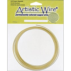 Beadalon 'Brass' Non-Tarnish 16-gauge Artistic Wire (10' Roll)