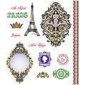 JustRite 'Bon Voyage' 13-piece Stampers Cling Stamp Set