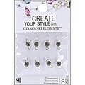 Jolee's Jewels Black Diamond Elements Connector (Pack of 8)
