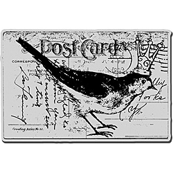 Stampendous 'Bird Post' Cling Rubber Stamp