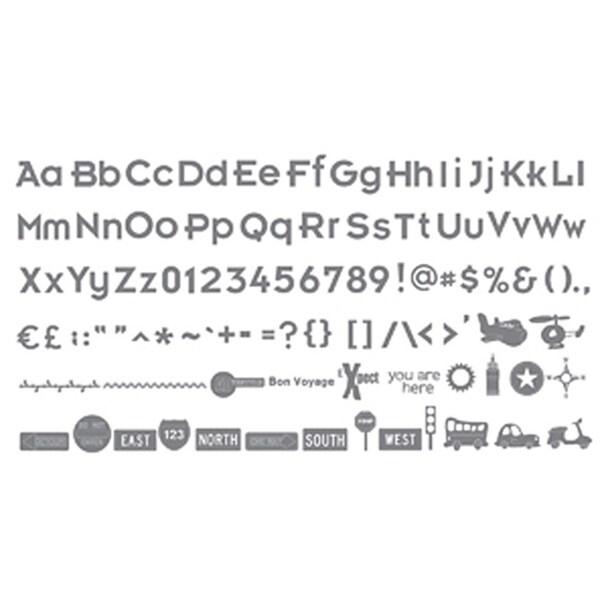 Basic Grey Sizzix-eclips Wander Shapes/ Alphabet Cartridge